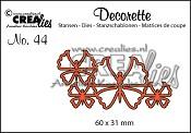 Decorette stans no. 44, Vlinders 6 / Decorette die no. 44, Butterflies 6