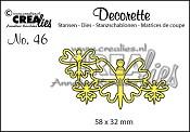 Decorette stans no. 46, Vlinders 8 / Decorette die no. 46, Butterflies 8