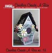 Crealies Create A Box stans no. 13 Vogelhuisje / Crealies Create A Box die no. 13 Birdhouse