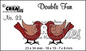 Double Fun stansen/dies no. 33, Vogeltjes / Birds
