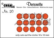 Decorette stans no. 20 Alleen cirkels / Decorette die no. 20 Only circles