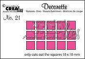 Decorette stans no. 21 Alleen vierkantjes / Decorette die no. 21 Only squares