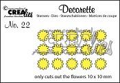 Decorette stans no. 22 Alleen bloemetjes / Decorette die no. 22 Only flowers