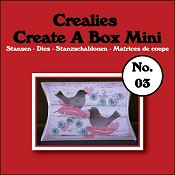 Create A Box Mini stans/die no. 03, Kussendoosje / Pillowbox