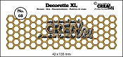 Decorette XL stans no. 03 Honingraat/ Decorette XL die no. 03 Honeycomb