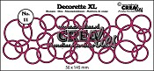 Decorette XL stans/die no. 11, In elkaar grijpende cirkels/ Interlocking circles