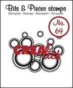 Bits & Pieces stempel/stamp no. 69 Lots of circles