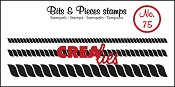 Bits & Pieces stempel/stamp no. 75 Rope, 3 sizes