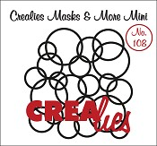 Masks & More Mini no. 108 In elkaar grijpende cirkels/Interlocking circles