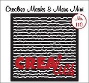 Masks & More Mini no. 110 (plastic), Krabbel lijnen / Scribble lines