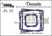 Decorette stans/die no. 23, Verstrengelde vierkanten / Intertwined squares