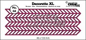 Decorette XL stans/die no. 05, Zigzag / Chevron