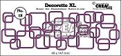 Decorette XL stans/die no. 12, In elkaar grijpende vierkanten / Interlocking squares