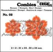 Combies stansen+stempels / dies+stamps no. 02, Bloemen B / Flowers B