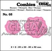 Combies stansen+stempels / dies+stamps no. 03, Rozen klein / Roses small