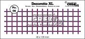 Decorette XL stans/die no. 06 vierkant recht/ squares straight