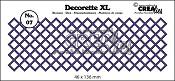 Decorette XL stans/die no. 07 vierkant diagonaal/ squares diagonal