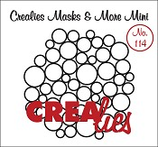 Masks & More Mini no. 114 (plastic), Overal cirkels/ Circles all over