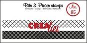 Bits & Pieces stempel/stamp no. 85 ribbon crosses