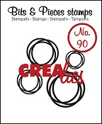 Bits & Pieces stempel/stamp no. 90 4x intertwined circles