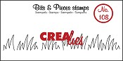 Bits & Pieces stempel/stamp no. 108 Grass edge medium