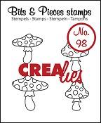 Bits & Pieces stempel/stamp no. 98 Mushrooms