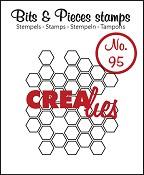 Bits & Pieces stempel/stamp no. 95 Open honeycomb