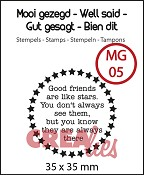 Mooi gezegd / Well said, stempel/stamp no 5, `Stars`