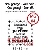 Mooi gezegd / Well said, stempel/stamp no 4, `Perfect`