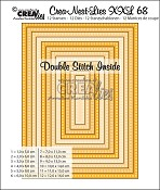Crea-Nest-Lies XXL stansen/dies no. 68, Rectangles with double stitch inside
