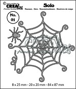 Solo stansen/dies no. 01, Spinnenweb met spin/Spiderweb with spider