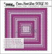 Crea-Nest-Lies XXL stansen/dies no. 70, Squares with open scallop