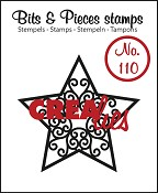 Bits & Pieces stempel/stamp no. 110 Star A