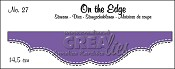 On the Edge stans/die no. 27, Met dubbele stiksteeklijn/With double stitch line