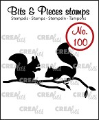Bits & Pieces stempel/stamp no. 100 Eekhoorns / Squirrels