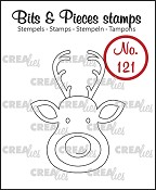 Bits & Pieces stempel/stamp no. 121 Rendier / Reindeer