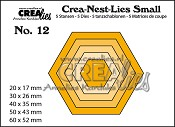 Crea-Nest-Lies Small stansen/dies no. 12, Zeshoeken / Hexagons