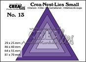 Crea-Nest-Lies Small stansen/dies no. 13, Driehoeken / Triangles