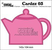 Cardzz stansen/dies no. 3, Theepot / Teapot