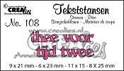 Tekststans no. 108 Thee tijd voor twee