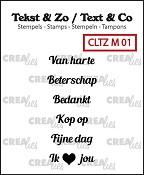 Tekst & Zo stempels, Mini tekst no. 1, A (NL)