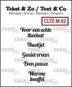 Tekst & Zo stempels, Mini tekst no. 2, thee A (NL)