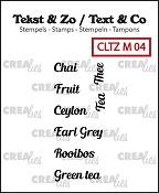 Tekst & Zo stempels/stamps, Tiny text no. 4, tea A (ENG)