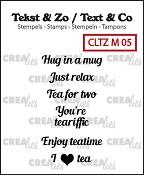 Tekst & Zo stempels/stamps, Tiny text no. 5, tea B (ENG)