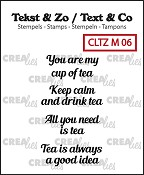 Tekst & Zo stempels/stamps, Tiny text no. 6, tea C (ENG)