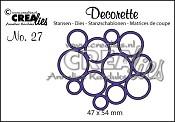 Decorette stans/die no. 27, Allemaal cirkels / All circles