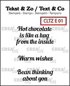 Tekst & Zo / Text & Co English stamps no. 1, Warm drinks A