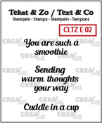 Tekst & Zo / Text & Co English stamps no. 2, Warm drinks B