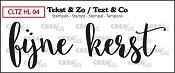 Tekst & Zo stempel, Handlettering no 4, Fijne Kerst