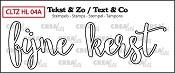 Tekst & Zo stempel, Handlettering no 4A, Fijne Kerst omlijning